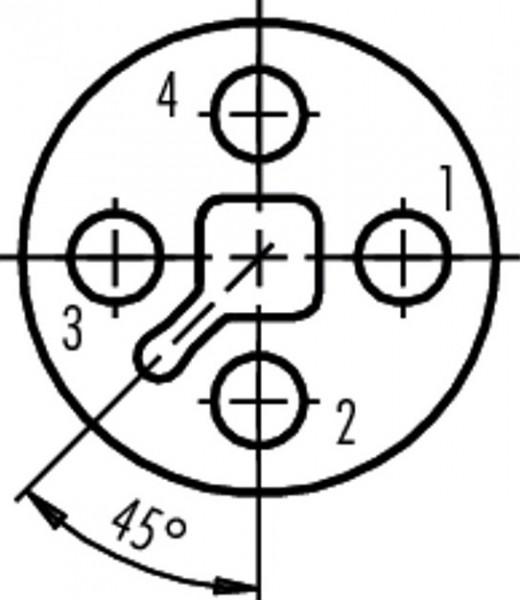 Binder Kabeldose T kodiert Serie 813