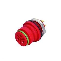 Binder Flanschdose löten rot Serie 720