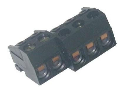 Zweiweg - Schraubklemme vertikal / horizontal Raster 5,00 mm, aneinanderreihbar