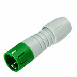 Binder Kabelstecker grün-grau Serie 620