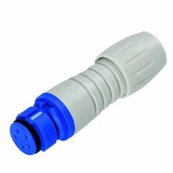 Binder Kabeldose blau-grau Serie 620