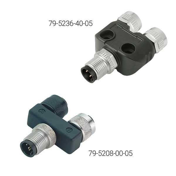 Binder 2-fach Verteiler 5/5 pol. Serie 765, M12 S5 - 2x B5