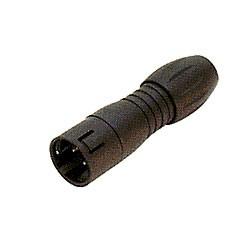 Binder Kabelstecker schwarz 2,5 - 4 mm Serie 720
