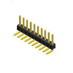 Stiftleiste R 2,54 1-reihig gewinkelt 6,1 mm