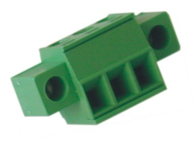 Buchsenstecker SHxx-3,81-K horizontal Raster 3,81 mm mit Flansch