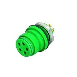 Binder Flanschdose löten grün Serie 720
