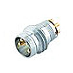Binder Einbaustecker kurz, tauchlöten, ohne LED, Serie 718