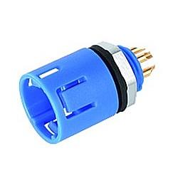 Binder Flanschstecker blau Serie 620