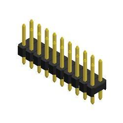 Stiftleiste R 2,54 2-reihig gerade 11,3 mm