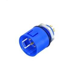 Binder Flanschstecker löten blau Serie 720