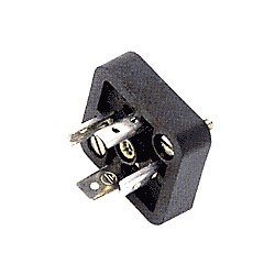 Gerätestecker, quadratisch 4 Bauform A