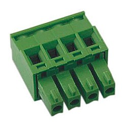 Buchsenstecker vertikal Raster 3,81 mm front