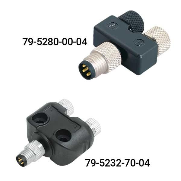 Binder 2-fach Verteiler 4/3 polig Serie 765, M8 S4-B3