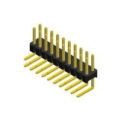 Stiftleiste R 2,54 2-reihig gewinkelt 6,1 mm