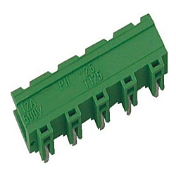Stiftstecker PVxx-7,62-H-S, horizontal Raster 7,62 mm offen