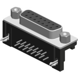 Lötpinanschluss gewinkelt, 9,4mm Footprint mit Sechskantbolzen und Board Lock