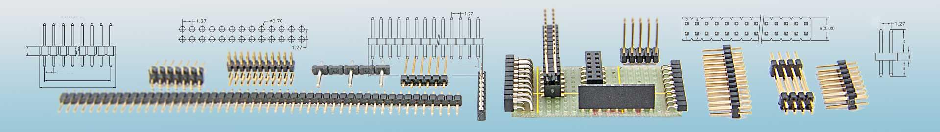 Die Stiftleisten als Basiselement der Steckverbinder