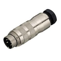 Binder Kabelstecker mit Kabelklemme löt 6 - 8 mm Serie 423