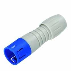 Binder Kabelstecker blau-grau Serie 720