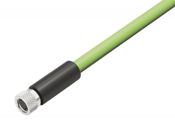 Binder Kabeldose 4 polig, am Kabel angespritzt