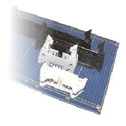 Flachkabel-Stiftwanne R2,54 gewinkelt DIN 41651, lange Hebel