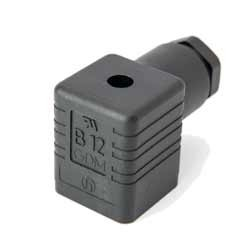 Magnetventilsteckdose 3 polig + PE, Bauform A, schwarz, UL