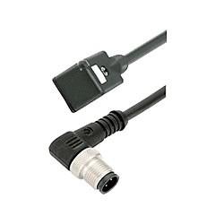 Binder Verbindungsleitung Bauform B Industrie mit LED / M12 gewinkelt