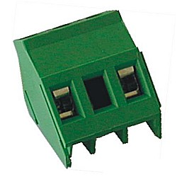 Leiterplattenklemme 45° gewinkelt Raster 10,16 mm Bauhöhe 16,30 mm