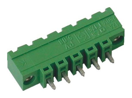 Stiftstecker PVxx-5,08-V-K vertikal Raster 5,08 mm, Schraubflansch, geschlossen